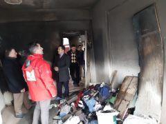Evi yanan Dalga ailesine Kızılay sahip çıktı