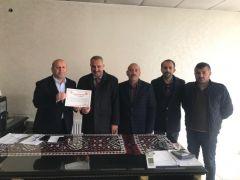 Başkan Er'den Başkan Demirci'ye teşekkür plaketi