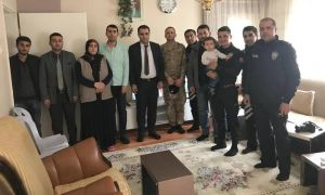 Hakkari'de şehit ailelerine ziyaret