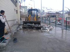 Hakkari Belediyesinden bahar temizliği