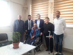 Başkan Gür'den engellilere ziyaret