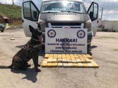 Yüksekova'da 49 kilo 700 gram eroin ele geçirildi