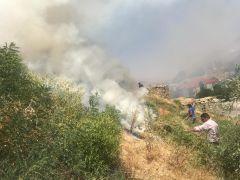 İran sınırında korkutan yangın