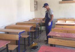 Hakkari'deki okullar dezenfekte edildi