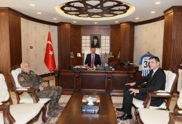 Emniyet Müdürü Atanur'dan Vali Akbıyık'a ziyaret