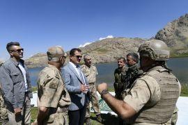Vali Akbıyık, İkiyaka dağlarında denetlemelerde bulundu