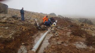3 bin 500 rakımlı Berçelan Yaylası'nda içme suyu çalışması