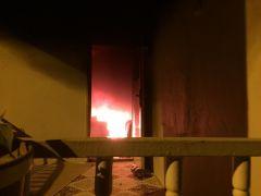 Hakkari'de sabaha karşı korkutan yangın