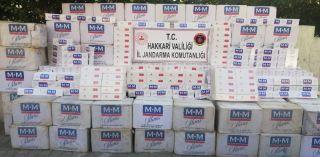 Şemdinli 52 bin 500 paket kaçak sigara ele geçirildi