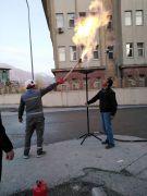 Hakkari'de doğalgaz gazlama işlemi yapıldı
