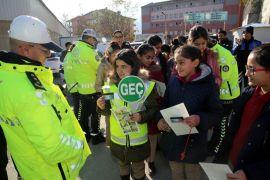 Hakkari'deki öğrencilere trafik eğitimi