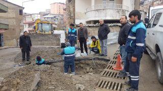 Su arıza ekibi çalışmalarına devam ediyor