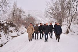 İlçe protokolünden köy ziyareti