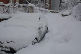 Hakkari'de kar manzaraları