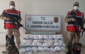 Yüksekova kırsalında 105 kilo uyuşturucu ele geçirildi