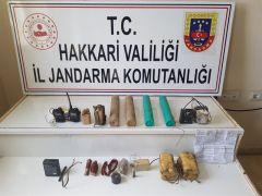 Yüksekova'da mühimmat ve patlayıcı ele geçirildi