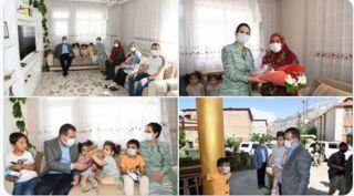 Hakkari'de 198 şehit ve gazi ailesi ziyaret edildi