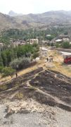 Hakkari'de mezarlık yangını