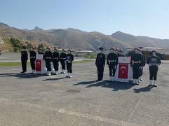 Şehit askerler için uğurlama töreni