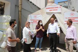Şemdinli'de randevusuz aşı çadırına yoğun ilgi