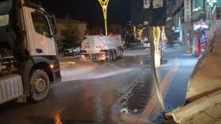 Belediye ekiplerinden dezenfekte çalışması